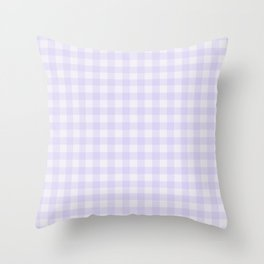 Gingham Pattern - Lilac Throw Pillow
