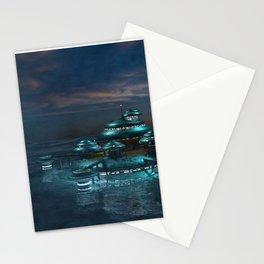 Futuristic Sea City Stationery Cards