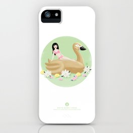 Summer Pool Party - Gold Swan Float C iPhone Case