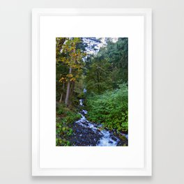 flowing to the gorge Framed Art Print