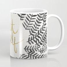 Treat Yo Self – Black & Gold Mug