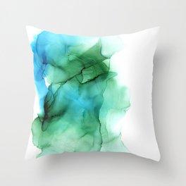 The Blue Green Sea Throw Pillow