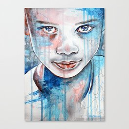 When the rain washes you clean, watercolor illustration Canvas Print
