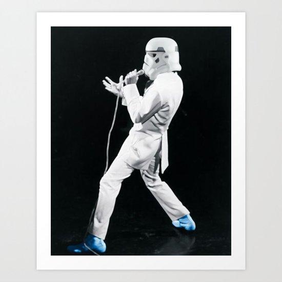 Blue Suede Trooper _ elvis and star wars Art Print