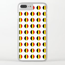 Flag of belgium 7 belgian,belge,belgique,bruxelles,Tintin,Simenon,Europe,Charleroi,Anvers,Maeterlinc Clear iPhone Case