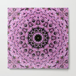 Kaleidoscope of purple flowers D Metal Print
