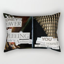 Money for Power Print Rectangular Pillow