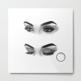 Graphite Eyes Metal Print