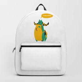 No more food? Backpack