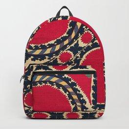 Tashkent Uzbekistan Central Asian Suzani Embroidery Print Backpack