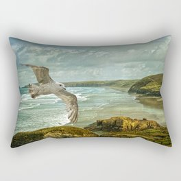 Perranporth Beach Cornwall Rectangular Pillow