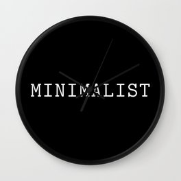 Black and White Minimalist Typewriter Font Wall Clock