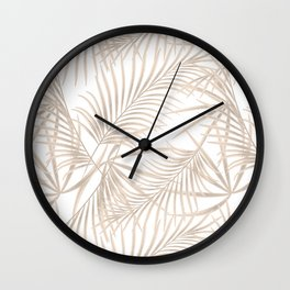 Palm leaves 4. Wall Clock