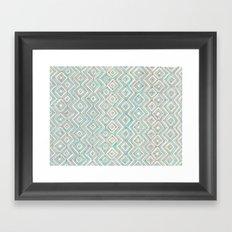 zig--zag Framed Art Print