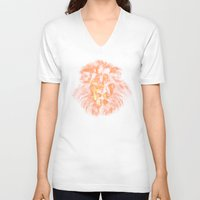 the lion king V-neck T-shirts featuring lion king by osvaldo