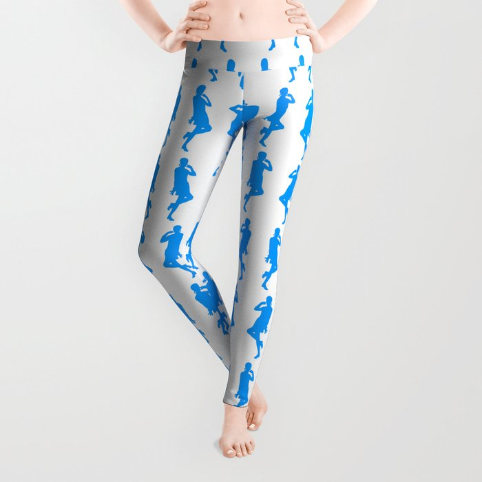 Light Blue Bold Mod GoGo Girls Leggings