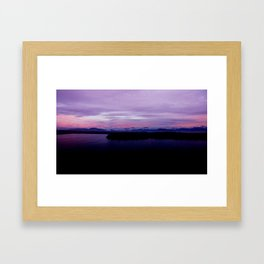 mahinapua golden hours purple reflections clouds dark Framed Art Print
