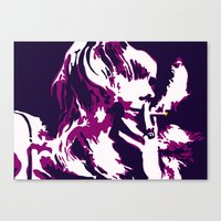rock n roll Canvas Prints featuring Rock 'n' Roll Suicide by Jasz Schneider