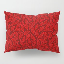 V.10 - Striated Leaves - Red Fall Leafage Pillow Sham