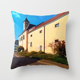 The village church of Eidenberg Throw Pillow