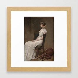 Miss Dorothy Quincy Roosevelt (later Mrs. Langdon Geer), John White Alexander Framed Art Print
