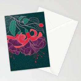 Fuchsia Flowers Stationery Cards