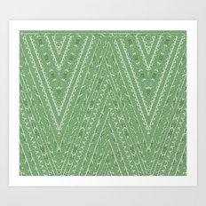 Gorgonize (in green snakeskin) Art Print