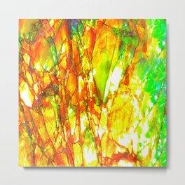 Sunset Ammolite Metal Print