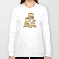 threadless Long Sleeve T-shirts featuring The Original Copycat by Picomodi
