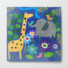 Safari Party Metal Print