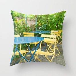 Dinner in the French Countryside Throw Pillow