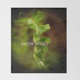 Know Thyself Throw Blanket