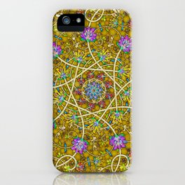 Gold Swirl iPhone Case