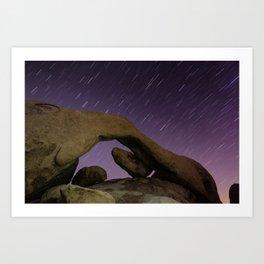 Arch Rock Star Trail Art Print