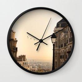 montmartre mornings Wall Clock
