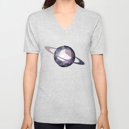 Geometric Saturn Unisex V-Neck