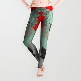 Lion Statues Leggings