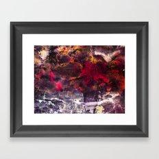 Abstract Encaustic I  /  Encaustique abstrait I  /  Encáustica abstracto I Framed Art Print