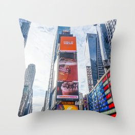 Daytime Times Square-pt.2 Throw Pillow