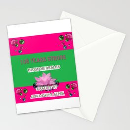 108 Years Strong Blossom Belles - A Salute to Alpha Kappa Alpha Stationery Cards