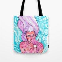 luna Tote Bags featuring Luna by Verismaya