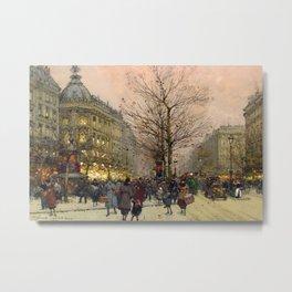 Les Grands Boulevards, Paris by Eugene Galien Laloue Metal Print