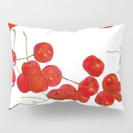 Falling cherries in coral Pillow Sham