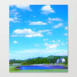 Summer on the Essex River Canvas Print