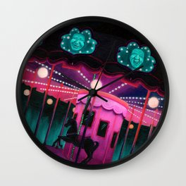 Pink and Purple Carnival Wall Clock