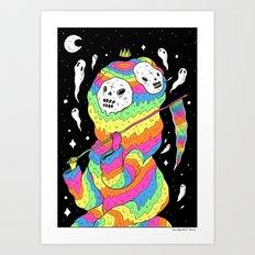 Slimey Space Reaper Art Print