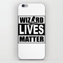 Wizard Lives Matter Retro Halloween Sorcerer Light iPhone Skin