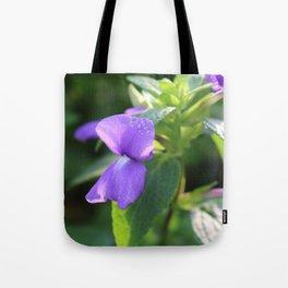 Purple Snap Dragon Flowers Tote Bag