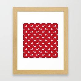 Cairn Terrier dog breed red and white dog pattern pet dog lover minimal Framed Art Print