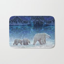Arctic Journey of Polar Bears Bath Mat